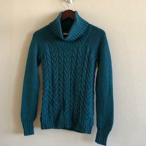 Cashmere blend turtleneck knit sweater Sz XS